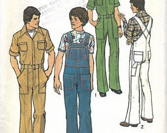 Simplicity 7052 Men's Jumpsuit -Coveralls and Overalls Sewing Pattern, Size 42, UNCUT