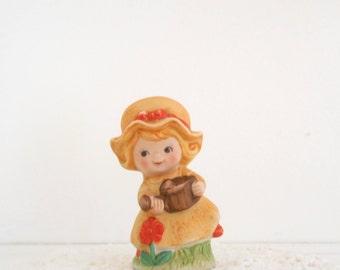 Potpourri Sachet Holder Incense Holder Ceramic Girl Figurine Bonnet