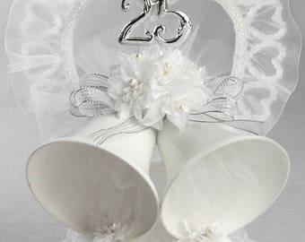 25th Wedding Anniversary Cake Topper, 25th Anniversary Cake Top, Silver Anniversary Cake Topper