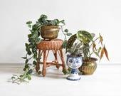Rattan plant stool, wicker stool, rattan stool, wicker plant stand, wicker decor, rattan decor, rustic stool, rustic decor, boho decor