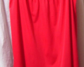 Vanity Fair, Red Night Gown, Classic Waltz, Size Large, Resort Cruise wear, Hospital Maternity Nightgown