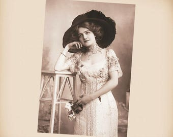 Actress Lily Elsie New 4x6 Vintage Postcard Image Photo Print SD237