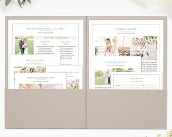 Wedding Welcome Packet, Wedding Photography Marketing, Wedding Photography Logo, Photography Welcome Guide, Marketing Set Kit Organic