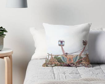 Carnival Throw Pillow, Fair pillow, Ride pillow, Carnival decor, Nursery decor, Children's decor, Carnival cushion, pillows