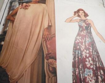Vintage 1970's Vogue 1147 Paris Original Lanvin Evening Dress and Toga Sewing Pattern Size 10 Bust 32.5
