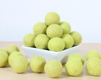 Felt Balls: LIME GREEN, Felted Balls, DIY Garland Kit, Wool Felt Balls, Felt Pom Pom, Handmade Felt Balls, Green Felt Balls, Green Pom Poms
