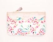 Floral print clutch bag. Leather handbag. Wedding clutch. Evening clutch. Bridesmaid clutch. Statement purse. Romantic bag. /FEMININE 4