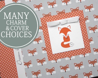 Personalized Baby Book | Fox Baby Memory Book | Gender Neutral Book | Little Foxes with Fox Charm
