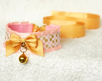 Golden Sweetness - collar for pet play, age play, kitten play, abdl, ddlg, bdsm, lolita