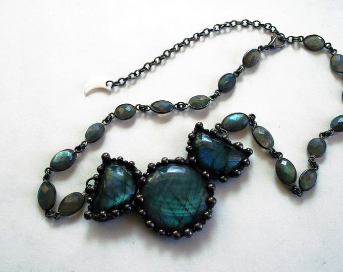 Labradorite Moon Phase Necklace