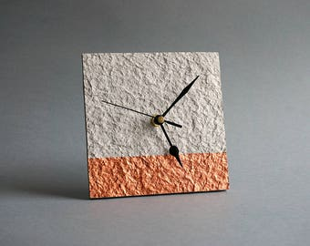 Recycled Paper Clock, First Wedding Anniversary Gift for Couple