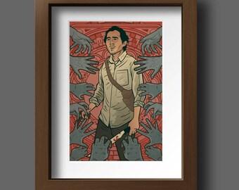 The Scout  - zombie survivor print