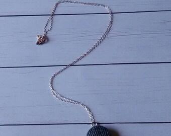 Petite Denim Pendant Necklace