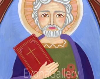 Saint Peter the Apostle, Christian art, art print, wall decor, patron, saint, Baptist gift, confirmation gift,