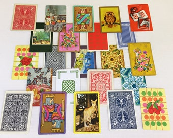 Vintage Playing Cards - Card Swap - 22 Different Assorted Cards -