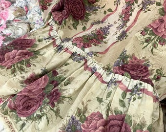 Shower Curtain Set, Curtain Panels, With Valance, Floral Tiebacks, Window Coverings, Floral Curtains