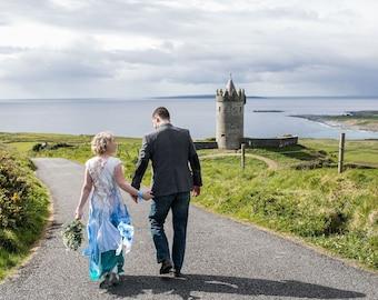 Alternative wedding dress Blue fairy wedding gown Colored wedding dress Bohemian wedding dress Whimsical bridal dress
