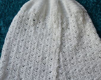 Baptism Cape / Robe in White for a 9-12 Month Ready to Ship Now