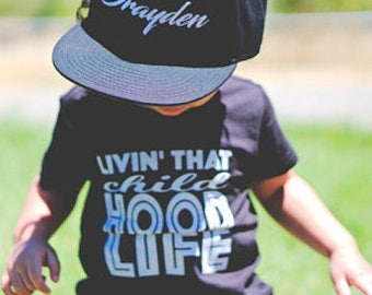 Kids Juniors Black Hat Snapback Childs Size Snap back cap Youth
