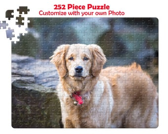 Personalized Puzzle, Photo Puzzle, Personalized Photo Puzzle, 252 Piece Puzzle, Picture Puzzle, Puzzle