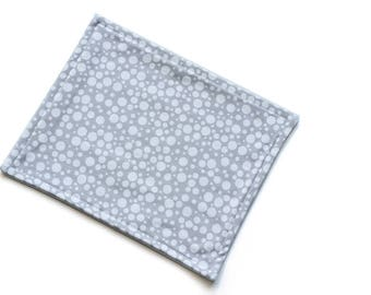 SALE || Organic Reusable Cloth || 24cm x 19cm || Scatter Grey || Organic Backing