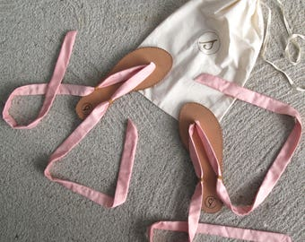 OLEYA lace-up sandal ties