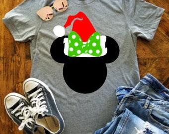 Minnie Christmas Shirt / Disney Christmas Shirt / Disney Santa Hat / Mickey's Very Merry Christmas Shirt