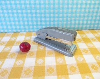 Swingline 99 - Small Metal Stapler - Industrial Gray -Retro Office - Mid Century Vintage 1960's