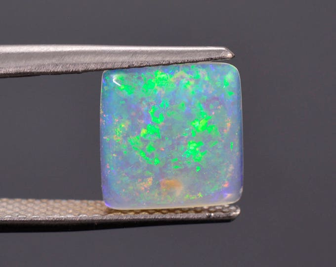 Lovely Mintabie Solid Semi Black Opal Cabochon, Australia, 1.41 cts.