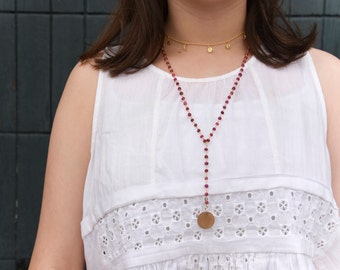 The Drop Necklace - Ruby