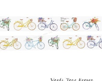 """NEW """"Vintage Bicycles"""" Washi Tape - 30mm x 8m - Planners Decoration Collage Card-making Paper Crafting Supply"""