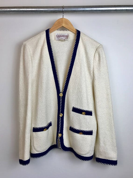 Vintage Women's Chanel Inspired Cardigan