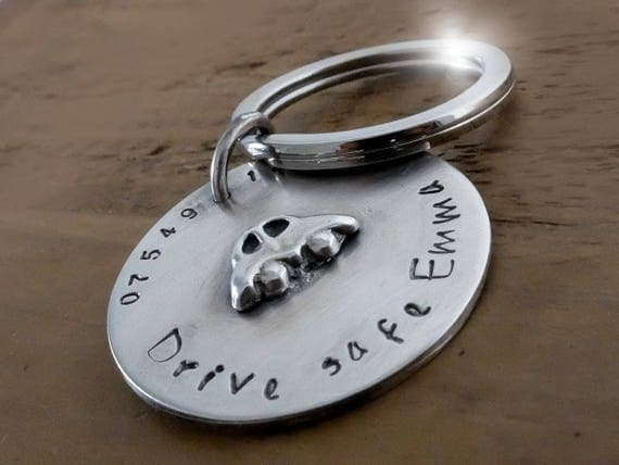 Sterling Silver Personalised Silver Keyring, Silver Personalised Key Chain, Personalised Silver Key Fob, ICE Keyring, Keyring with Message