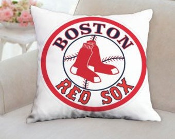 "SALE...Save 5.00 dollars on the Boston Red Sox Pillow 18""x18"""