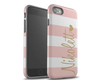 iPhone 7 Case, Rose Gold, iPhone 8 Case, iPhone 8 Plus Case, Galaxy S7 Case, Galaxy S7 Edge Case, Monogram, Personalized, Galaxy S8 Case