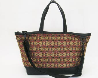 Carry-on/Overnight/Weekender Bag in Woven Check Design