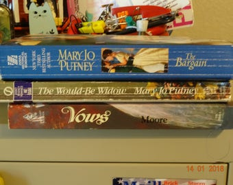 3 vintage romance books by Mary Jo Putney and Margaret Moore