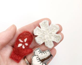 needle felted decor small gift under 25 winter olympics 2018 christmas gift for mom christmas decoration christmas ornament home decor