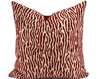 Red Zebra Pillow Etsy