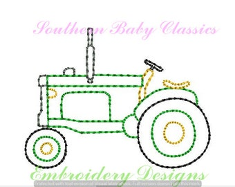 Old Antique Tractor Pumpkin Farm Autumn Design Vintage Quick Stitch File for Embroidery Machine Instant Download Boy Heirloom Toy