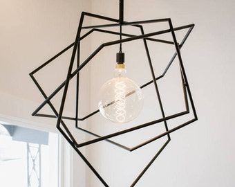 Abstract Pentagon Light Fixture - Custom Order