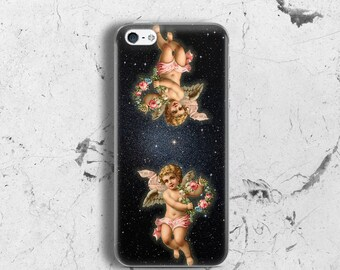 Lovers phone case for iPhone 5 Case angels for iPhone 5s Case cupids for iPhone SE Case rubber for iPhone 4s Case for iPhone 5c Case vintage