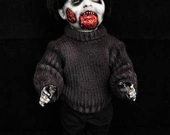 "Kiba 11"" OOAK Mixed Media Horror Doll"