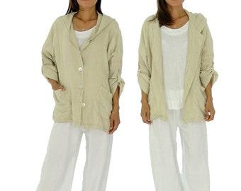 HM100BG44 Women's jacket hood oversize used look gr. 42-44 Beige