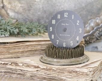 Vintage Clock Face BABY BEN BLACK Westclox Part Farmhouse Decor Industrial Salvage Fixer Upper Decor