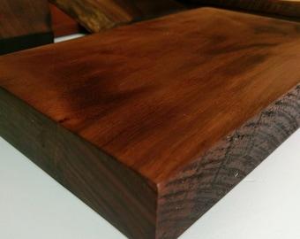 Walnut cutting board, thick, rustic hardwood cutting board/ Personalize