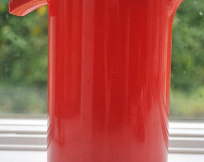 Mid Century Modern Copco #671 Red Orange Melamine 1 Qt Mixing Pitcher
