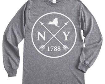 Homeland Tees New York Arrow Long Sleeve Shirt