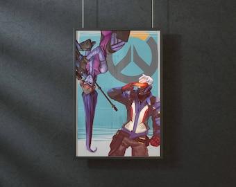 Overwatch - original art print