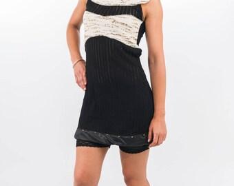 Wild Interstellar Futurist Woman Elegance designer-Black Short Dress.